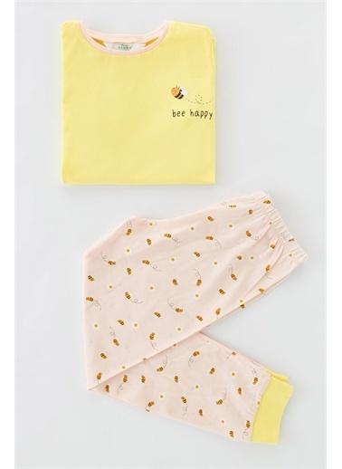 Penti Çok Renkli Kız Çocuk Bee Happy Ls- 4Lü Takımı Renkli
